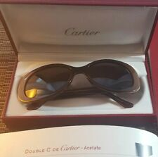 "cartier sunglasses ""double C"" acetate ""Janis"" serial and box"