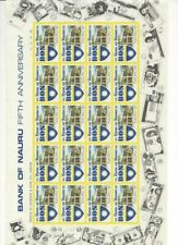 Nauru $1 Bank of Nauru 1981 Complete sheet of 20 Muh Rare