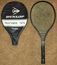 Dunlop JOHN McENROE 747A Vibrotech gray vintage Tennis Racquet Cover 4 1/4 grip