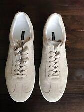 NIB Dolce & Gabbana Mens Suede Low Top Sneakers size US 10.5 UK 9.5