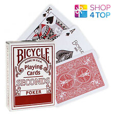 BICYCLE SECONDS PLAYING MAGIC TRICKS POKER CARDS DECK STANDARD INDEX RED USA