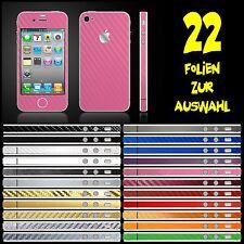 IPHONE 4S FOLIE ROSA CARBON ( BUMPER COVER HÜLLE SKIN SCHALE PINK )