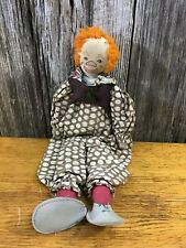 antique hand made stuffed toy clown