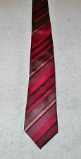 KEN COLE REACTION STRIPED  NECK TIE   PURPLE BLACK GRAY RED  FREE SHIPPING