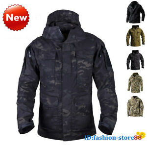 Army Tactical Military Mens Jackets Combat M65 Field jacket Outdoor Waterproof