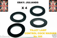 TILLEY LAMP CONTROL COCK WASHERS  x 4  KEROSENE LAMP PARAFFIN LAMP SERVICE KIT