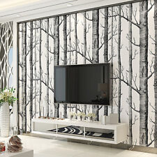 Birch Tree Wallpaper Modern Decor Wall Paper Roll Forest Wood Wallpapers Bedroom