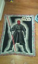 Darth Maul Throw Blanket Rug approximately 59X39 Star Wars light saber dark side