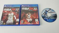 PS4 Used Game Lot of 3 Madden NFL 15, 16, NBA 2K17, NBA 2K16 Everybody's