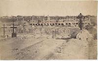 Egitto Cimitero Di Porto Said Date Disco Foto Vintage Albumina c1875
