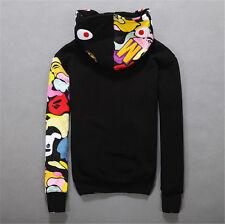 JAPAN Bape A Bathing Ape Men's Shark Head Jacket Sweats HOODIE BAPE Sweater Coat