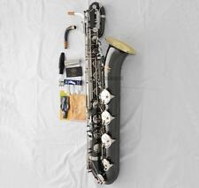 2018 TaiShan Eb Baritone Saxophone Black nickel Sax With Gold Bell ABALONE Key