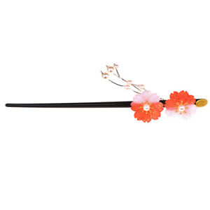 Fashion Girl Crystal Flower Hair Stick Pearls Handmade Pin Hair Chopstick Tassel