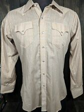 Vintage (1970s?) Rockmount Ranch Wear 16M Gold Thread Western Shirt