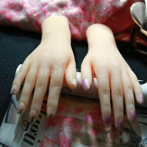 Silicone Lifelike Female Hand Finger Mannequin Display Jewelry Model Props 1PC