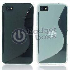 Fundas y carcasas BlackBerry color principal negro de silicona/goma para teléfonos móviles y PDAs