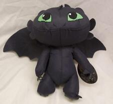 "How To Train Your Dragon BLACK TOOTHLESS DRAGON 9"" Plush STUFFED ANIMAL Toy NEW"