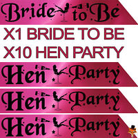 11 HEN PARTY DO SASH SASHES FOR NIGHT OUT GIRLS ACCESSORIES bachelorette NBC