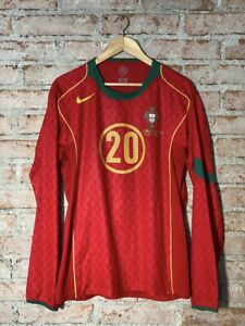 Portugal 20 Deco  2004 Vs Luxemburgo Match Worn Rare Size Large Total 90 Home