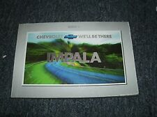 2001 CHEVROLET IMPALA AND SS FACTORY ORIGINAL OWNERS MANUAL FOR GLOVE BOX