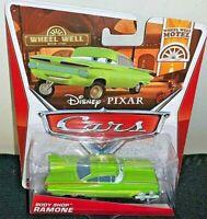 DISNEY PIXAR CARS 2013 1/50 DIE CAST WHEEL WELL MOTEL GREEN RAMONE #8/11 RARE!