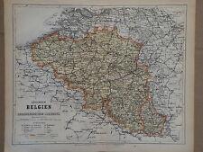 Landkarte Königreich Belgien & Grossherzothum Luxemburg, Hildburghausen 1872