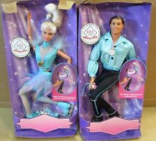 2 Barbie & Ken Dolls Olympic USA Skaters Skate & Spin For Gold Medal Box Wears