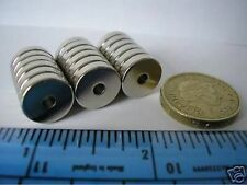 "8 of 1/2"" x 1/8"" with 1/8"" Hole (13mm x 3mm) Neodymium Ring Magnets Strong NdFeB"