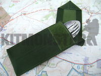 Olive Green VCRO Closed Slip Cover Case Pouch for Knife Fork & Spoon KFS Set