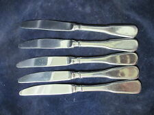 Vtg 18/10 Crom Nickel Stahl H. Solingen 5 Dinner Steak Knives 2nd set Rostfrei