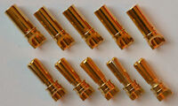 5 Male / 5 Female 3.5MM Gold Plated Spring Bullet Connector Plugs - 95 Amps