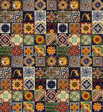 """100 Mexican Talavera Ceramic Tiles 4"""" MIXED"""