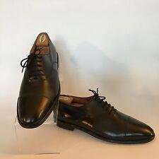 Salvatore Ferragamo Studio Black Leather Cap Toe Dress Oxfords Shoes Mens 10.5 D