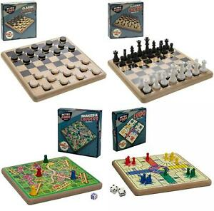 Classic Wooden Family Kids Retro Board Game with Original Pieces