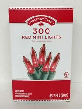 Holiday Time 300 Red Mini Lights Green Wire Indoor Outdoor Any Occasion 62Ft Lit