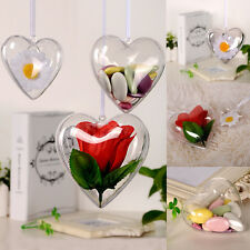 3Pcs 65/80/100mm New DIY Clear Plastic Bath Bomb Mould Acrylic Mold Heart Shape