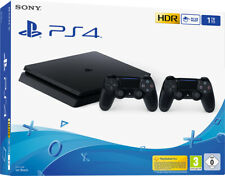 SONY PLAYSTATION 4 PS4 CONSOLE 1TB F CHASSIS SLIM HDR + 2 DUALSHOCK 4 V2