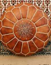 MOROCCAN LEATHER POUF 100% HANDMADE