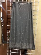 Ladies Long Skirt SIZE LARGE Liz Claiborne Size L, Gray Print