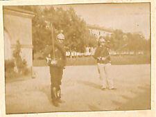 LIBOURNE ? LE MANS ? TOUTE PETITE PHOTO 15° RGT DRAGONS 2 DRAGONS VERS 1890