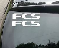 2x FCS SURF Car/Van/Window JDM VW DUB VAG EURO FAT Vinyl Decal Sticker
