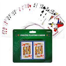2 Barajas Cartas para Juegos recubierto cubierta Snap Para Juegos De Poker Apuestas Reyes Reinas Ace