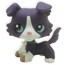Littlest Pet Shop Purple Collie Dog Puppy Blue Eyes Figure Gift Toy LPS #1676