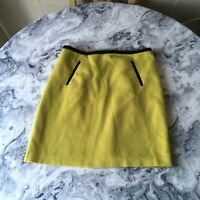 M&S Collection Warm Winter Skirt Wool Blend Aline Lined Lime Size 14
