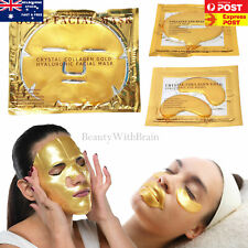 Face Mask Gold Bio-Collagen Crystal Anti Ageing Face Masks, Lips mask Skin Care