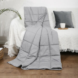"""Weighted Blanket 15Lbs 40x60"""" For Adult Kid Relief Anxiety Breathable Cotton"""