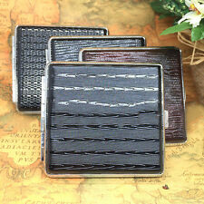 Unisex Womens Mens Thin Slim Faux Leather 20pcs Cigarette Case Box Holder Gift
