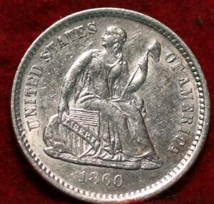 1860-O New Orleans Mint Seated Liberty Silver Half Dime