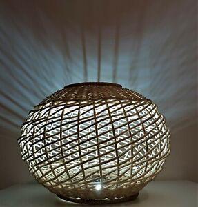 Rattan Wicker Lamp Shades / Lamp Ceiling Retro Drum / Basket Pendant / HandMade