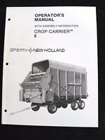 NEW HOLLAND CROP CARRIER #8 OPERATORS & ASSEMBLY MANUAL VERY CLEAN